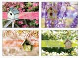 Birdhouse Blessings (KJV) Box of 12 Get Well Cards