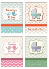 Blessings & Joy (NIV) Box of 12 Baby Congratulations Cards