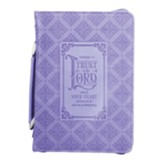 Trust In the Lord Bible Cover, Purple, Medium
