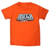 MEGA Sports Camp T-shirt, Youth Small Orange