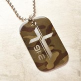 For God So Loved the World, Camo Dog Tag Pendant