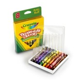 Crayola, Triangular Crayons, 8 Pieces