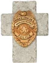 A Policeman's Prayer Mini Cross