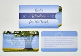 God's Wisdom of the Week, Laminated Scripture Cards in Paper Sleeves, Set of 7