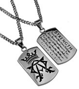 Strength Alpha Omega Dog Tag