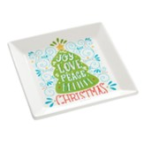 Joy Love Peace, Serving Plate