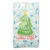 Joy Love Peace Napkins, Pack of 20, White