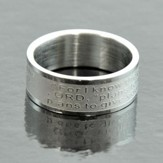 For I Know that Plans, Jeremiah 29:11 Band Ring, Size 10