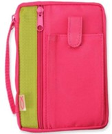 Canvas Compact Bible Cover, Fuchsia