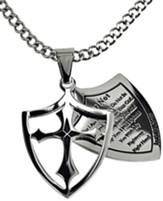 Fear Not Shield Cross Necklace