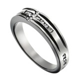 Channel Cross True Love Waits Ring, Size 8