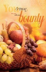 With Your Bounty Thanksgiving Bulletins, 100