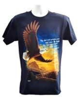 Eagle, They That Wait Upon the Lord, Shirt, Navy, Large