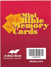Abeka Miniature ABC Bible Memory Cards