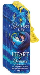 Gods Love Is In the Heart of Christmas Bookmark, Pack of 6