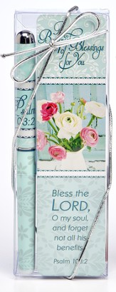 Bless the Lord, O My Soul, A Bouquet Of Blessings For You, Pen and Bookmark Set