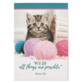 With God All Things Are Possible Notepad