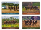 Horsepower Birthday Cards, Box of 12