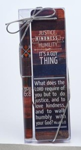 Justice, Kindness, Humility Bookmark and Pen Set
