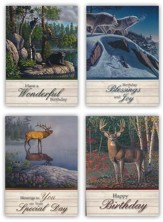 Nature's Majesty Birthday Cards, Box of 12