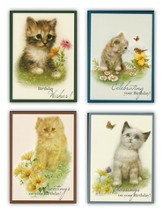 Cuddly Kittens Children's Birthday Cards, Box of 12