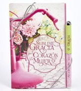 Amazing Grace For A Woman's Heart Pen and Gift Book Set, Spanish