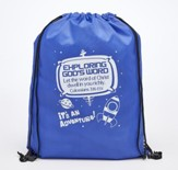 Exploring God's Word, Drawstring Backpack, Blue