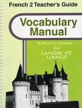 Abeka Langue et louange French Year 2 Vocabulary Manual  Teacher Guide