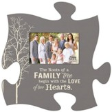 The Roots Of A Family Tree, Puzzle Piece Photo Frame