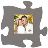 Puzzle Piece Photo Frame, Gray