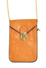 Crossbody Phone Case with Chain, Brown