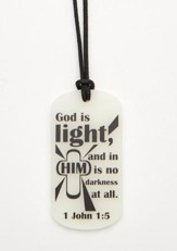 Light Shines Glow in the Dark ID Tag Necklace