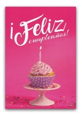 Feliz Cumpleanos tarjeta (Happy Birthday Cupcake Card)