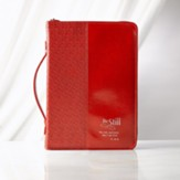 Be Still Bible Cover, Red, Large