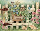 Count Your Blessings, Garden Gate Blank Note Cards  Box of 13