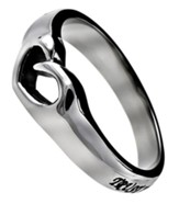 Trust, Mini Heart Ring, Size 7