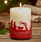 O Holy Night Metal Candle Holder