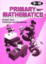 Primary Mathematics Answer Key Booklet 1A-3B (Standards Edition)