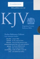KJV Pocket Reference Bible, Imitation leather, gray