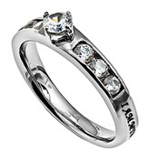Beloved, Princess Solitaire Ring, Size 9
