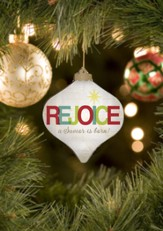 Rejoice, A Savior Is Born Ornament