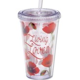 Living Loved Tumbler with Straw