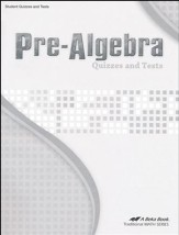 Abeka Pre-Algebra Quizzes and Tests