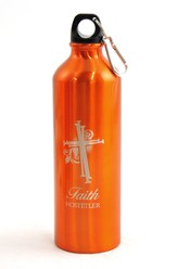 Personalized, Nail Cross Water Bottle