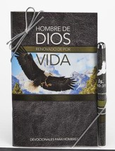 Man of God, Pen & Softcover Devotion Book Gift Set, Spanish