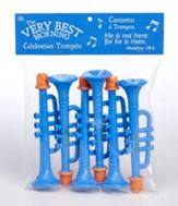 He Is Risen Toy Trumpet Whistle, Pack of 6