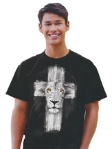 Lion Cross Shirt, Black, Medium
