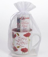 Living Loved Mug, Pen, Bookmark Gift Set