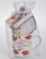 Living Loved Mug, Pen, Notepad Gift Set