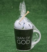 Man of God, Renewed Mug and Golf Balls Gift Set